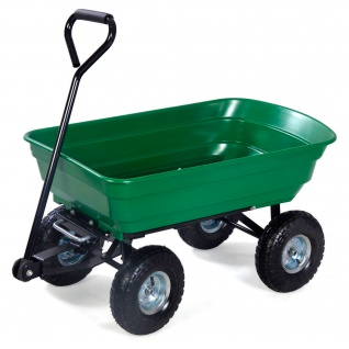Herzberg HG-8028-50: 50L Wheel Barrow Dump Cart