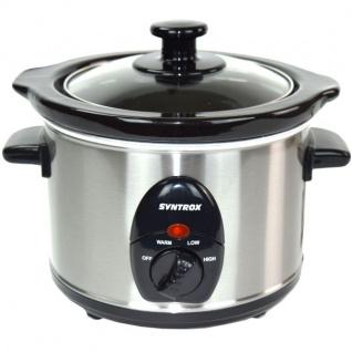 """2, 5 Liter Edelstahl Slow Cooker mit Warmhaltefunktion """""""