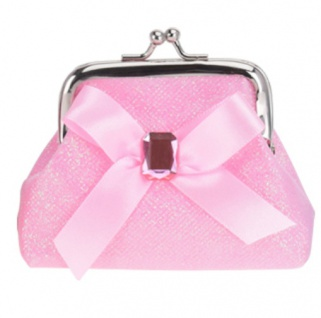 wallet Clip Schleife 10 cm rosa