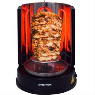 """Multifunktion Rotisserie Dönergrill Kebab Grill Schwarz Weiß """" schwarz"""""""
