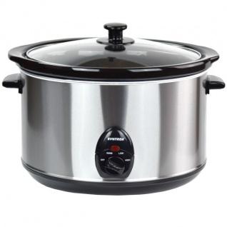"""5, 6 Liter Edelstahl Slow Cooker mit Warmhaltefunktion """""""