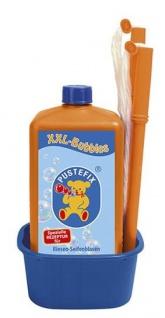 blase XXL mit 1 Liter Flüssigkeit orange/blau