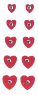 nagelaufkleber Herzen 10 Stück