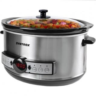 "Syntrox Germany Digitaler Slow Cooker 4, 5 Liter mit Timer """