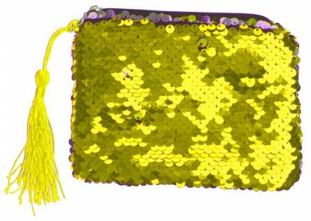 brieftasche Meerjungfrau Glitzer 13 cm gold