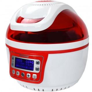 Turbo-Heißluftfritteuse Heißluftgarer Airfryer Küchenmaschine LED-Display 10 Liter Garraum