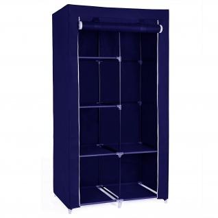Herzberg HG-8010: Kleiderschrank - Klein Blau