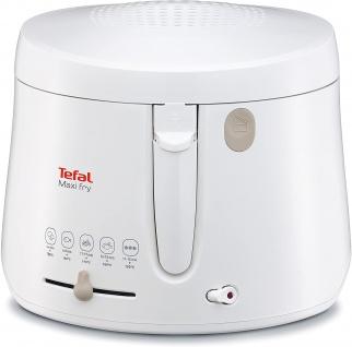 Tefal FF1000 Maxi Fry Fritteuse 1.900W Kapazität 1, 2 kg, Fritteuse mit Öl weiß