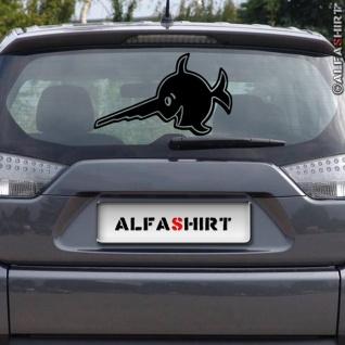 Aufkleber/Sticker Schwertfisch Sägefisch Alfashirt Logo Auto Fisch 30x18cm #A371