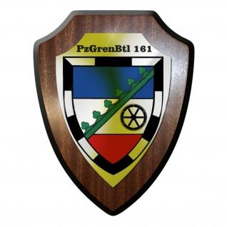 Wappenschild / Wandschild -PzGrenBtl161 Panzergrenadierbataillon 161 #9653