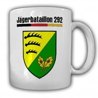 Jägerbataillon 292 Jäger Bundeswehr Wappen Abzeichen JgBtl - Tasse #18677