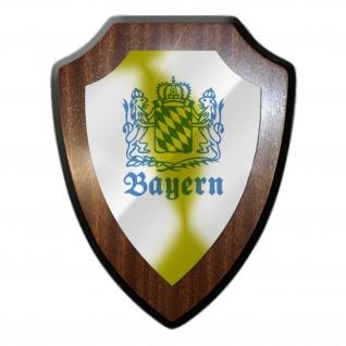 Wappenschild Bayern Staat Deutschland München Oktoberfest BW Militär #27041