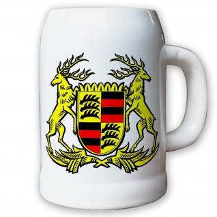 Krug Bierkrug 0, 5l - Württemberg Baden-Württemberg Landeswappen Bundesland #9414