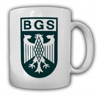 Tasse BGS altes Wappen Bundes-Grenzschutz Polizei Deutschland Adler #22272