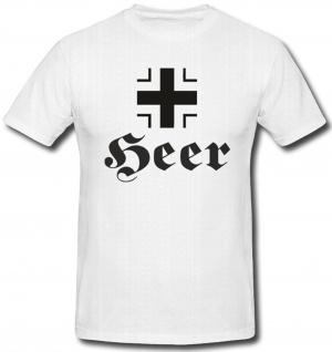 Balkenkreuz Heer Eisernes Kreuz Hoheitszeichen Deutsch - T Shirt #491