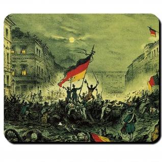 Märzrevolution 1849 Jubel Berlin Straße Mauspad #16158