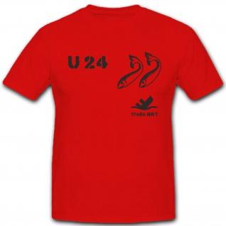 U 24 U Boot Marine U-Boot Untersee Boot Wappen Abzeichen - T Shirt #4161