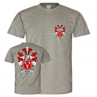 Familien Wappen Ross Zeichen Stammbaum Siegel Logo Rohs Klasse T Shirt #27247