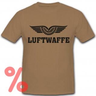 Gr. XL - SALE Shirt Luftwaffe Abzeichen Bundeswehr Logo #R909