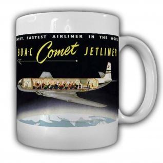 Tasse BOAC Comet Jetliner de Havilland DH 106 Flugzeug Jet erste in Serie #24005