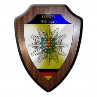 Wappenschild Polizei Thüringen Wappen Abzeichen Erfurt Deko Büro #23073