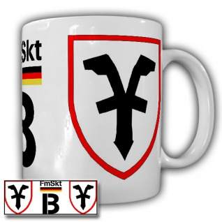 Tasse FmSkt B Fernmeldesektor Bundeswehr Wappen Fernmelder Abzeichen #21657