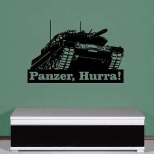 Hurra, Panzer Panzerkampfwagen Panzerfahrzeug Leopard 2 Wandtattoo 45x69cm #5416