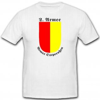 2 Armee Ostpreußen Wappen Militär Emblem Abzeichen Einheit - T Shirt #2284
