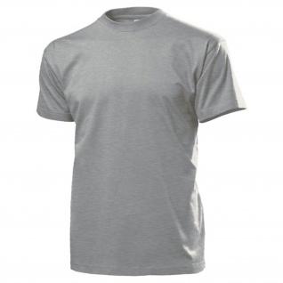 Blanko Shirt grau Alfashirt T Hemd Einsatzhemd T Shirt #15977