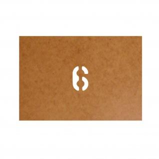 6 six sechs Startnummer Stencil Ölkarton Lackierschablone 2, 5x1, 5cm #15267