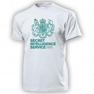 MI6 Secret Intelligence Service Wappen Logo Abzeichen England - T Shirt #17093
