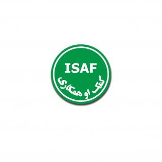ISAF Aufkleber Auslandseinsatz Afghanistan Militär Fahrzeug 15x15cm A5239
