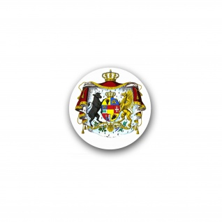 Aufkleber Wappen Großherzogtums Mecklenburg Sterlitz Grafschaft 20x20cm #A4781
