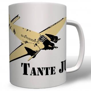 Tante Ju Flugzeug Luftwaffe WK WH Ju 52 Deutschland Heer Tasse # 16590