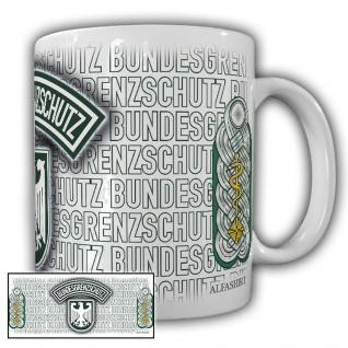 Tasse Oberstabsarzt BGS Bundesgrenzschutz Wappen Abzeichen Andenken #23713