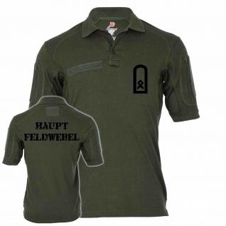 Tactical Poloshirt Alfa - Hauptfeldwebel Dienstgrad BW Abzeichen Offizier #19100