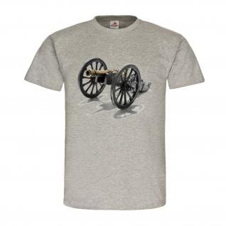 Kanone Vorderlader Amerika Revolver CSA USA T Shirt #22584 - Vorschau 1