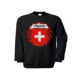 Pulli Eidgenoss Gothisch Schweiz Schweizer Pullover Alpen Swiss Kreuz#36501