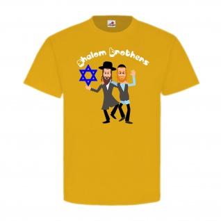 Shalom Brothers Israel David Stern Orthodoxe Comic Fun Spaß T-Shirt #20160