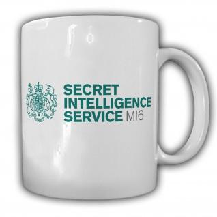 Tasse MI6 Secret Intellgence Service Wappen Logo Abzeichen britisch #17092
