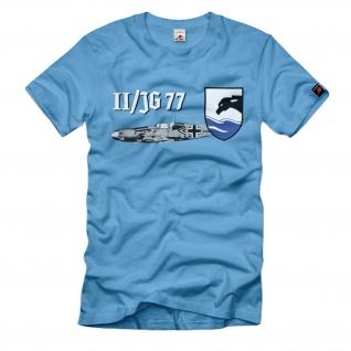 II Gruppe Jagdgeschwader 77 JG Luftwaffe Me109 Wappen Logo WW2 T-Shirt#1833