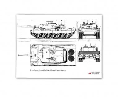 Poster Kampfpanzer Leopard 2AV 120mm Blueprint Panzergrenadier ab 30x21cm #30806
