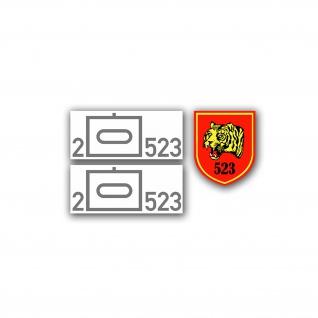 2 PzBtl 523 Sticker Set 1:16 Modell Bataillon 2x 2x1cm 1x 1, 2x1, 4cm #A4604