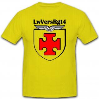 LwVersRgt 4 Luftwaffe Bundeswehr Wappen Logo Abzeichen Emblem - T Shirt #1424