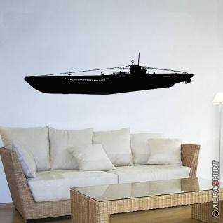 Wandtattoo U-Boot Typ VII C Aufkleber Deko Marine Deutschland 120x34cm #10871