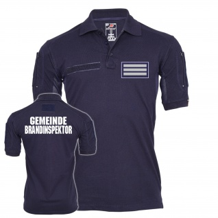 Tactical Polo Shirt Gemeinde Brandinspektor Atemschutz Feuerwehr #23537