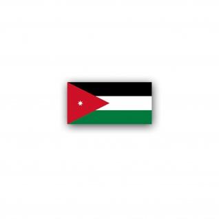 Aufkleber/Sticker Jordanien Flagge Haschemitisches Königreich 7x3, 5cm A2982