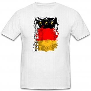 Deutschland Fußball Trikot WM Fan schwarz rot gold Fahne Public - T Shirt #12477