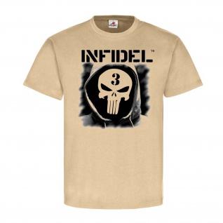 INFIDEL Skull Sniper Scharfschütze Soldat Einheit Bundeswehr BW T-Shirt#23938