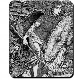 Lathgertha Darstellung Lathgertha Lithographie Morris Meredith Mauspad #16114